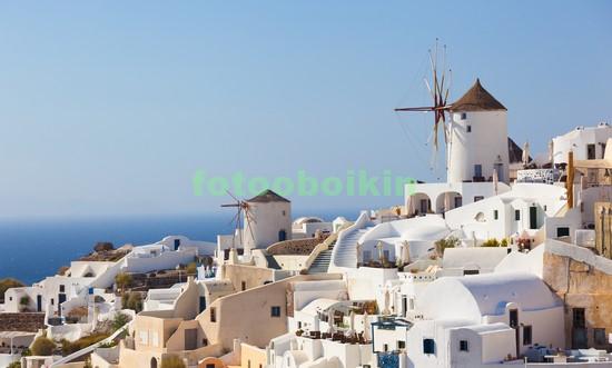 Фотообои Санторини белая мельница