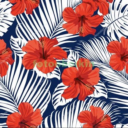 Фотообои Красные красивые цветы