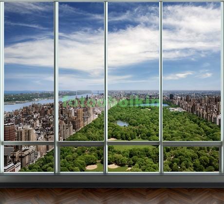 Фотообои Окно с видом на центральный парк