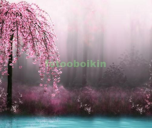 Фотообои Сакура около воды