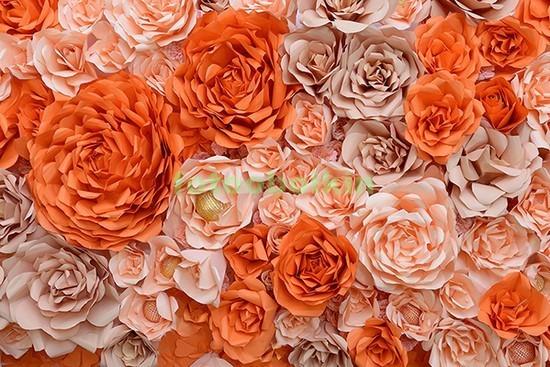 Фотообои 3D оранжевые пионы
