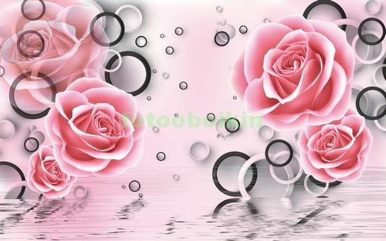 Фотообои 3D розы