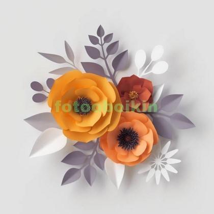 Фотообои 3D цветок
