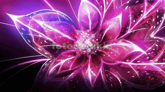 Фотообои 3D розовый цветок