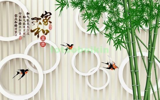 Фотообои 3D бамбук