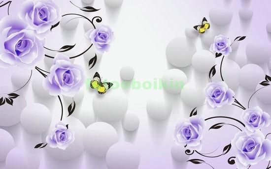 Фотообои 3D синие розы