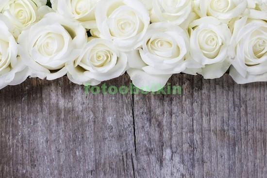 Фотообои Белые розы на доске