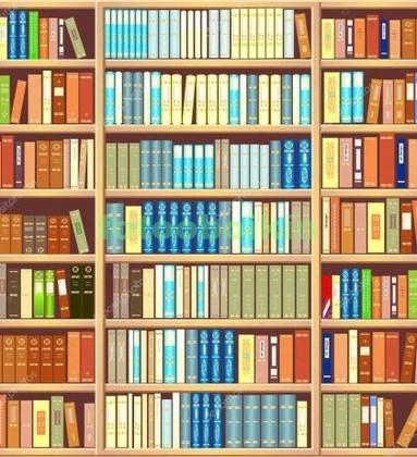 Фотообои Полки с книгами