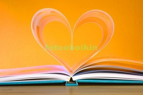 Фотообои Книга с сердцем
