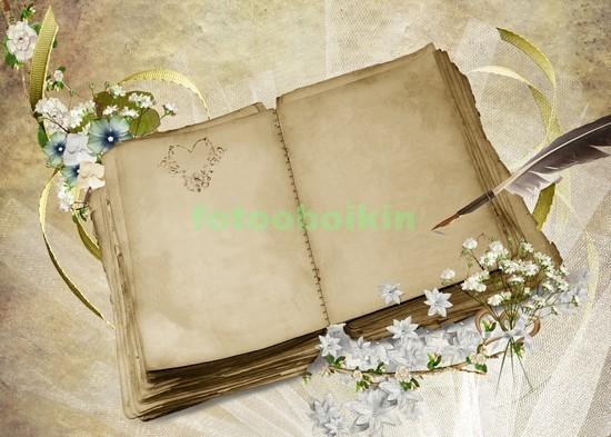 Фотообои Старая пустая книга