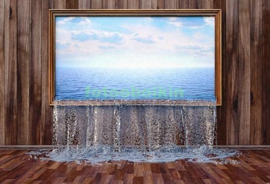 Фотообои Окно с водой
