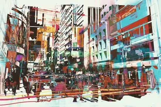 Фотообои Абстракция Нью-Йорк
