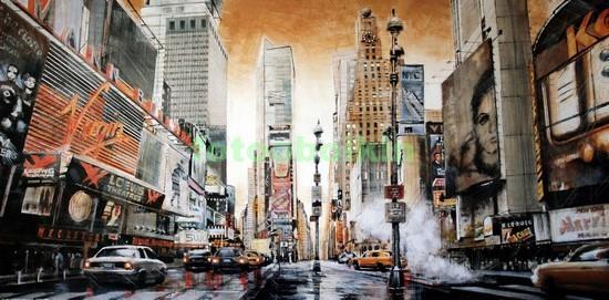 Фотообои Рисунок Нью-Йорка