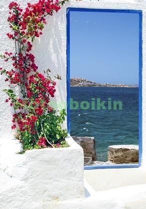 Фотообои Дверь с видом на море