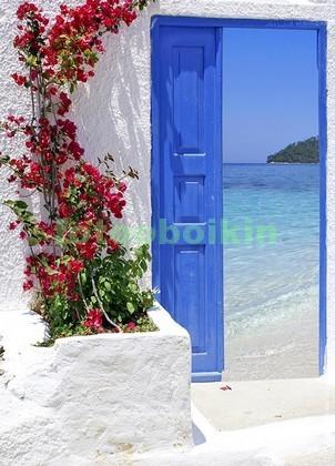 Фотообои Дверь с видом на пляж