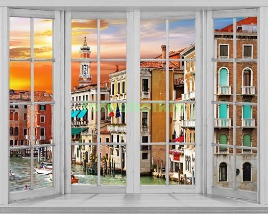 Фотообои Окно с видом на Венецию