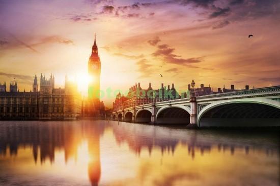 Закат в Лондоне