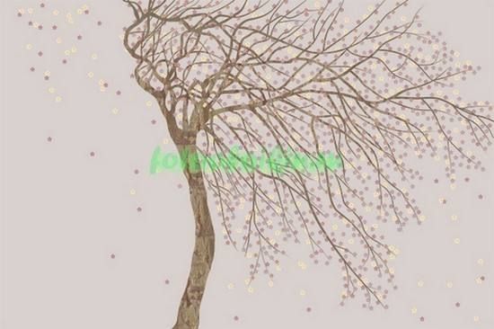 Фотообои Дерево с цветами