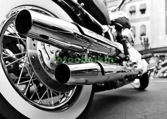 Фотообои Мотоцикл чб