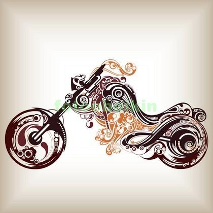 Фотообои Мотоцикл рисунок