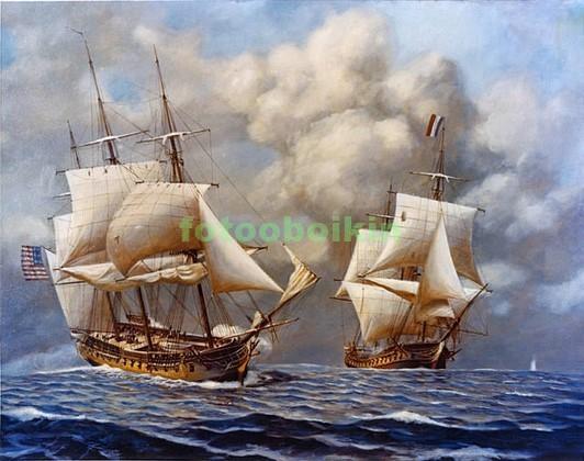 Фотообои Два старинных корабля