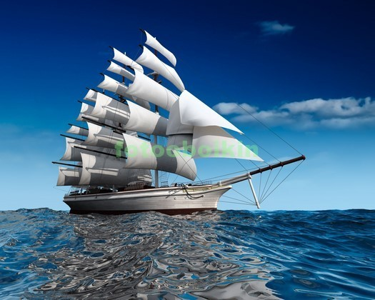 Фотообои Яхта в море