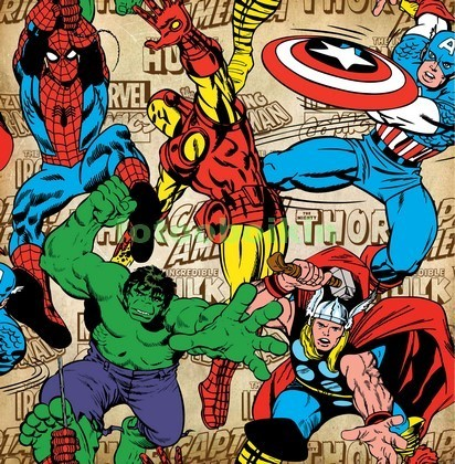 Фотообои Рисунок Мстители