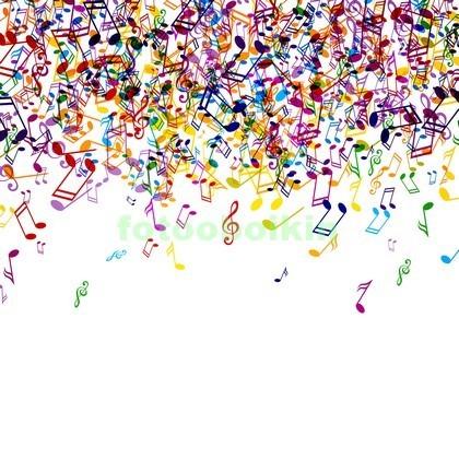 Фотообои Цветные ноты