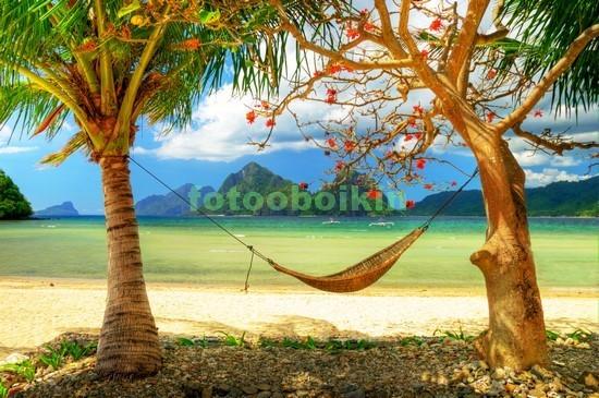 Фотообои Гамак под пальмами