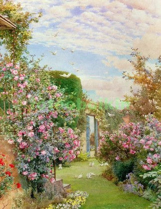 Фотообои Картина сад