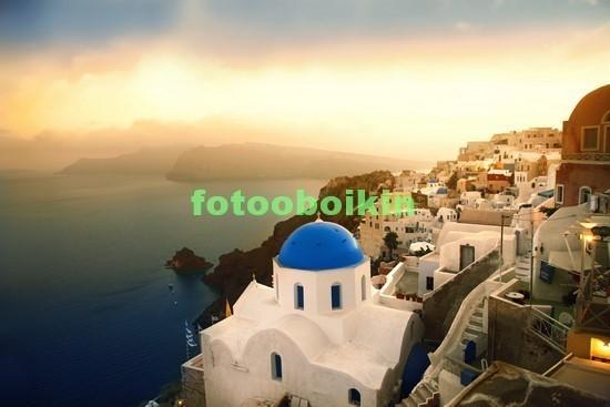 Санторини и закат