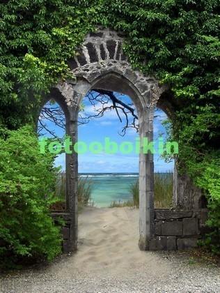 Фотообои Арка с зеленью
