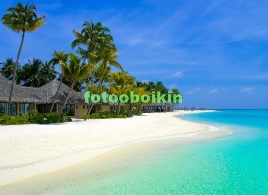 Фотообои Голубое море и пляж