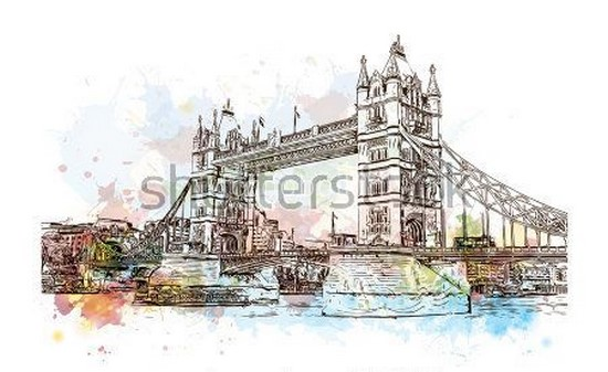Фотообои Лондон карандашом