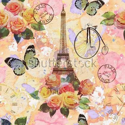 Фотообои Париж узор