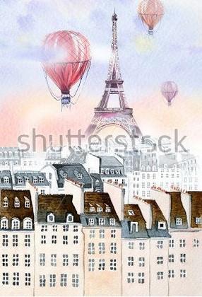 Фотообои Париж шары