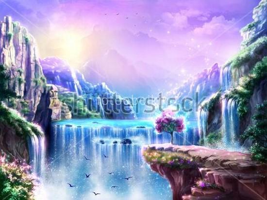 Фотообои Водопады в горах