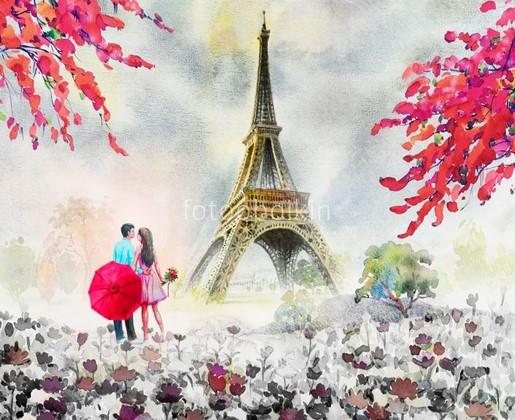 Фотообои Париж для влюбленных