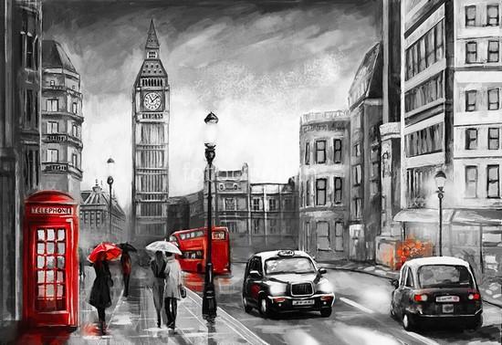 Фотообои Лондон рисунок