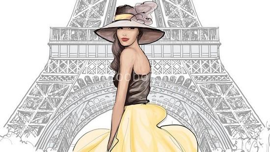 Фотообои Парижанка