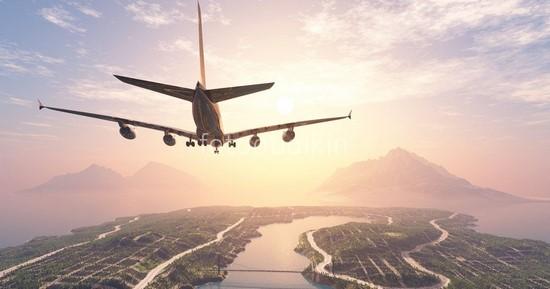 Фотообои Самолет закат