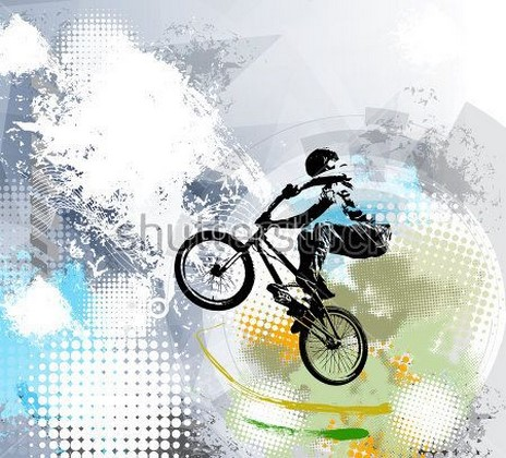 Фотообои Велосипедист арт
