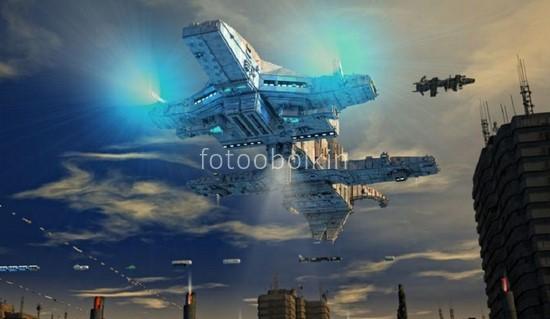 Фотообои Космический боевой корабль