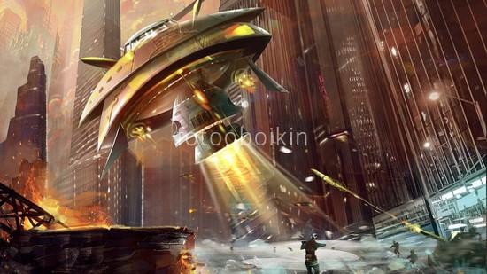 Фотообои Инопланетный корабль