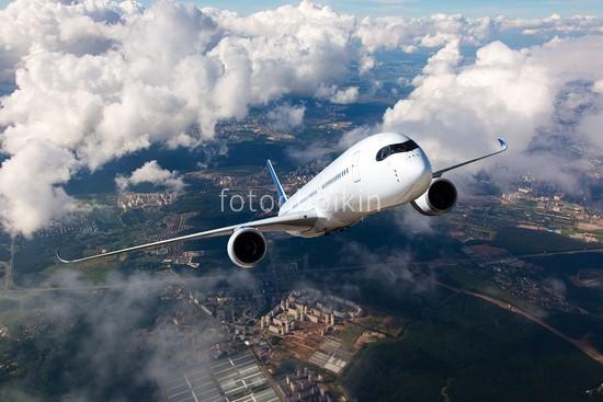 Фотообои Самолет над полями