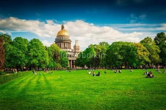 Фотообои Парк около Исаакиевского собора