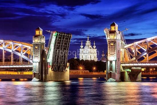 Фотообои Большеохтинский мост