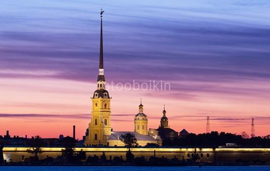 Фотообои Петропавловская крепость закат