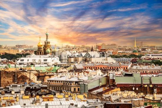 Фотообои Санкт-Петербург вид сверху