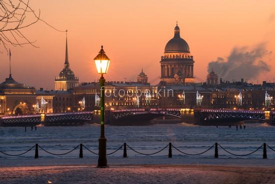 Фотообои Зимний вечер в Санкт-Петербурге